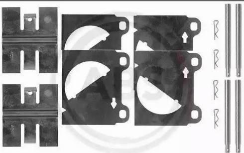 A.B.S. 0950Q - Piederumu komplekts, Disku bremžu uzlikas autodraugiem.lv