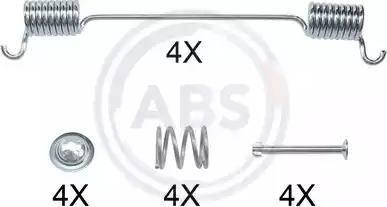 A.B.S. 0524Q - Piederumu komplekts, Bremžu loki autodraugiem.lv