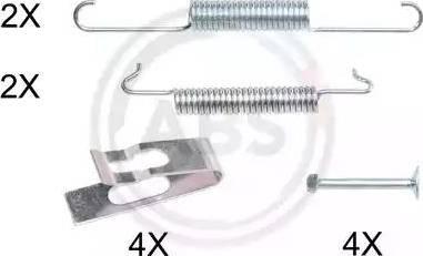 A.B.S. 0027Q - Piederumu komplekts, Stāvbremzes mehānisma bremžu loks autodraugiem.lv