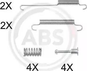 A.B.S. 0892Q - Piederumu komplekts, Stāvbremzes mehānisma bremžu loks autodraugiem.lv