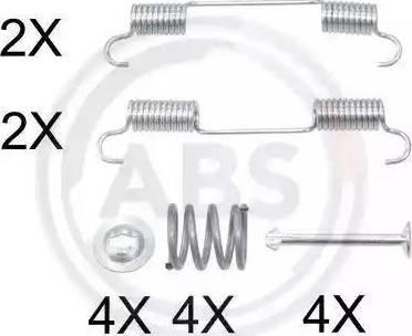 A.B.S. 0897Q - Piederumu komplekts, Stāvbremzes mehānisma bremžu loks autodraugiem.lv