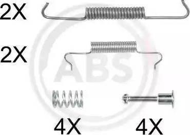 A.B.S. 0887Q - Piederumu komplekts, Stāvbremzes mehānisma bremžu loks autodraugiem.lv