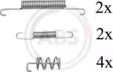 A.B.S. 0831Q - Piederumu komplekts, Stāvbremzes mehānisma bremžu loks autodraugiem.lv