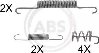A.B.S. 0832Q - Piederumu komplekts, Bremžu loki autodraugiem.lv