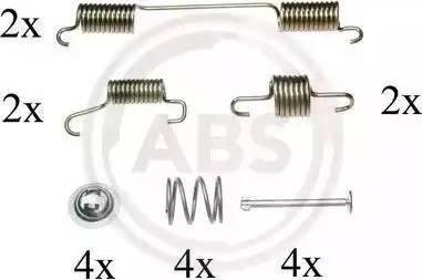 A.B.S. 0828Q - Piederumu komplekts, Stāvbremzes mehānisma bremžu loks autodraugiem.lv