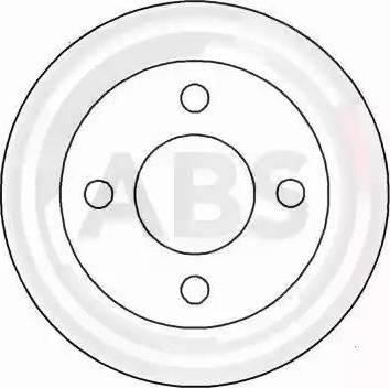 A.B.S. 15561 - Bremžu diski autodraugiem.lv