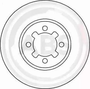 A.B.S. 15538 - Bremžu diski autodraugiem.lv
