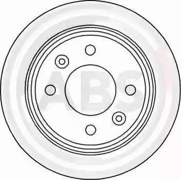 A.B.S. 15890 - Bremžu diski autodraugiem.lv