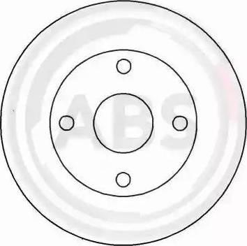 A.B.S. 15812 - Bremžu diski autodraugiem.lv