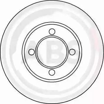 A.B.S. 15837 - Bremžu diski autodraugiem.lv