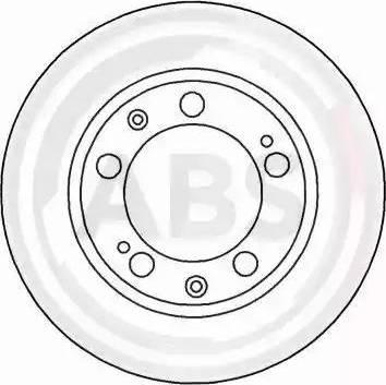 A.B.S. 15822 - Bremžu diski autodraugiem.lv