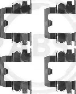 A.B.S. 1095Q - Piederumu komplekts, Disku bremžu uzlikas autodraugiem.lv