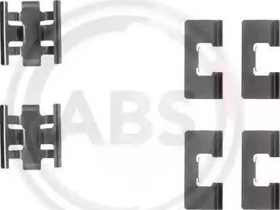 A.B.S. 1091Q - Piederumu komplekts, Disku bremžu uzlikas autodraugiem.lv
