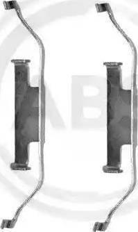 A.B.S. 1097Q - Piederumu komplekts, Disku bremžu uzlikas autodraugiem.lv