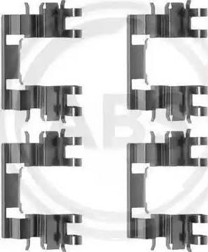 A.B.S. 1087Q - Piederumu komplekts, Disku bremžu uzlikas autodraugiem.lv