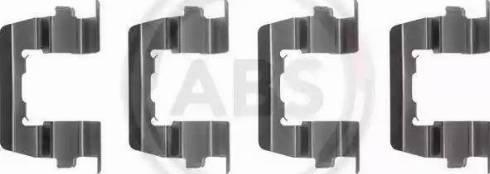A.B.S. 1074Q - Piederumu komplekts, Disku bremžu uzlikas autodraugiem.lv