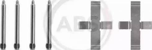 A.B.S. 1076Q - Piederumu komplekts, Disku bremžu uzlikas autodraugiem.lv
