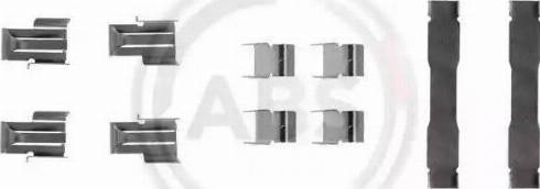 A.B.S. 1071Q - Piederumu komplekts, Disku bremžu uzlikas autodraugiem.lv