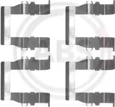 A.B.S. 1194Q - Piederumu komplekts, Disku bremžu uzlikas autodraugiem.lv