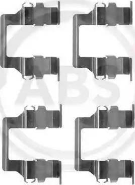 A.B.S. 1164Q - Piederumu komplekts, Disku bremžu uzlikas autodraugiem.lv