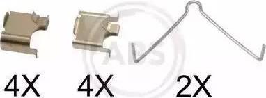 A.B.S. 1166Q - Piederumu komplekts, Disku bremžu uzlikas autodraugiem.lv