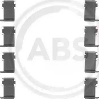 A.B.S. 1162Q - Piederumu komplekts, Disku bremžu uzlikas autodraugiem.lv