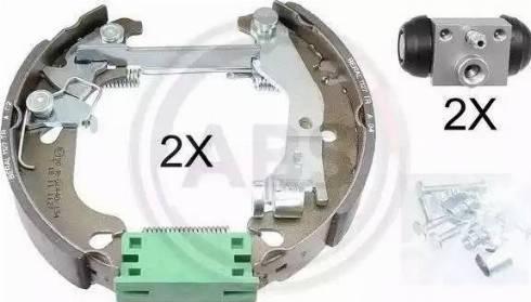 A.B.S. 111452 - Bremžu komplekts, trumuļa bremzes autodraugiem.lv