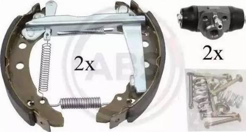 A.B.S. 111410 - Bremžu komplekts, trumuļa bremzes autodraugiem.lv