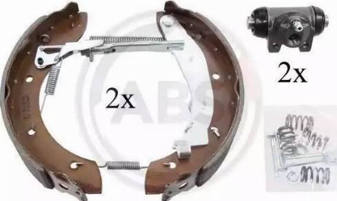 A.B.S. 111417 - Bremžu komplekts, trumuļa bremzes autodraugiem.lv