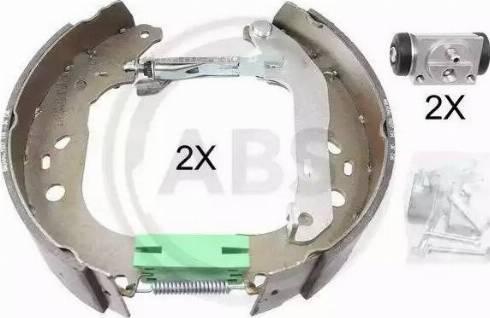 A.B.S. 111438 - Bremžu komplekts, trumuļa bremzes autodraugiem.lv
