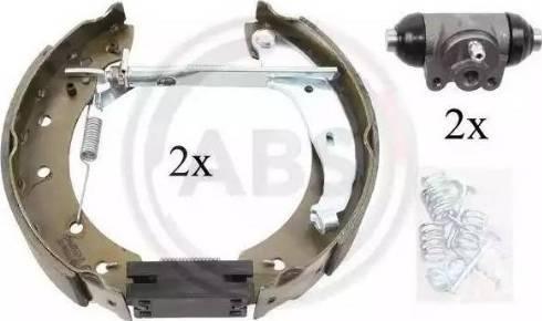 A.B.S. 111420 - Bremžu komplekts, trumuļa bremzes autodraugiem.lv