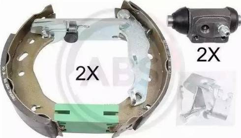 A.B.S. 111427 - Bremžu komplekts, trumuļa bremzes autodraugiem.lv