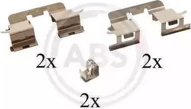 A.B.S. 1290Q - Piederumu komplekts, Disku bremžu uzlikas autodraugiem.lv