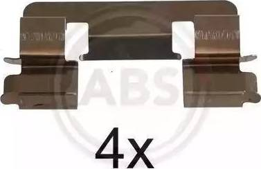 A.B.S. 1293Q - Piederumu komplekts, Disku bremžu uzlikas autodraugiem.lv