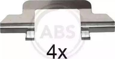 A.B.S. 1243Q - Piederumu komplekts, Disku bremžu uzlikas autodraugiem.lv