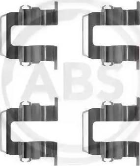 A.B.S. 1259Q - Piederumu komplekts, Disku bremžu uzlikas autodraugiem.lv
