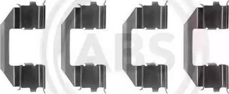 A.B.S. 1258Q - Piederumu komplekts, Disku bremžu uzlikas autodraugiem.lv