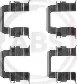 A.B.S. 1252Q - Piederumu komplekts, Disku bremžu uzlikas autodraugiem.lv