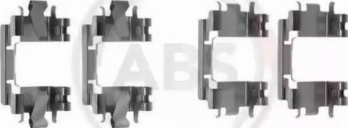 A.B.S. 1257Q - Piederumu komplekts, Disku bremžu uzlikas autodraugiem.lv