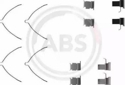 A.B.S. 1261Q - Piederumu komplekts, Disku bremžu uzlikas autodraugiem.lv
