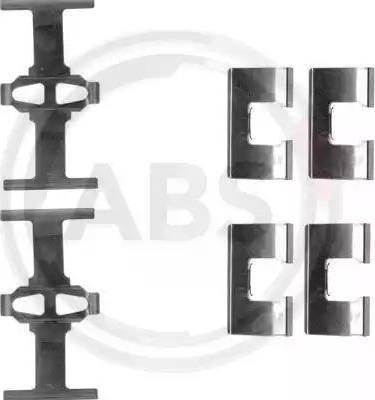 A.B.S. 1203Q - Piederumu komplekts, Disku bremžu uzlikas autodraugiem.lv