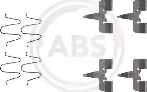 A.B.S. 1207Q - Piederumu komplekts, Disku bremžu uzlikas autodraugiem.lv
