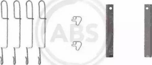 A.B.S. 1280Q - Piederumu komplekts, Disku bremžu uzlikas autodraugiem.lv
