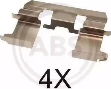 A.B.S. 1281Q - Piederumu komplekts, Disku bremžu uzlikas autodraugiem.lv