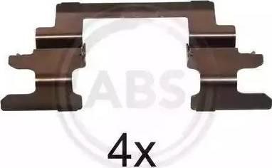 A.B.S. 1236Q - Piederumu komplekts, Disku bremžu uzlikas autodraugiem.lv