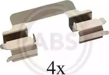 A.B.S. 1231Q - Piederumu komplekts, Disku bremžu uzlikas autodraugiem.lv
