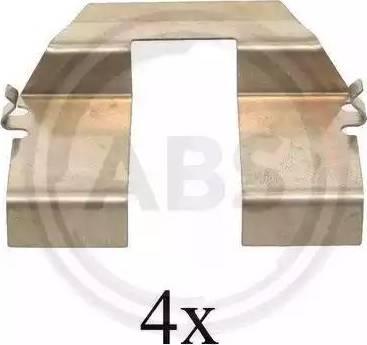 A.B.S. 1232Q - Piederumu komplekts, Disku bremžu uzlikas autodraugiem.lv