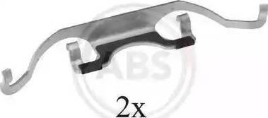 A.B.S. 1224Q - Piederumu komplekts, Disku bremžu uzlikas autodraugiem.lv