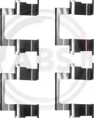 A.B.S. 1274Q - Piederumu komplekts, Disku bremžu uzlikas autodraugiem.lv