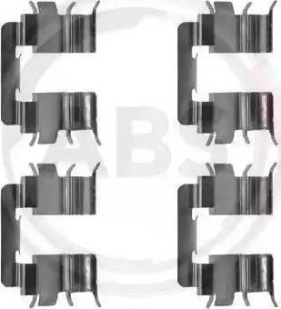 A.B.S. 1272Q - Piederumu komplekts, Disku bremžu uzlikas autodraugiem.lv